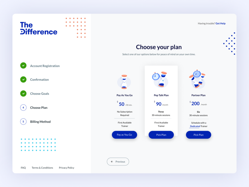 TheDifference Onboarding Pricing dashboard ui onboarding ui onboarding pricing plans pricing plan pricing web app design web app blue