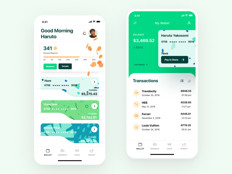 7Eleven Wallet UI/UX Showcase app mobile finance app finance app mobile wallet mobile app design mobile design mobile mobile apps mobile app ux ui uiux mobile ui ui design ui  ux uidesign mobile application greeting