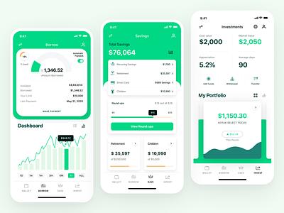 7Eleven Bank App Showcase banking app app design mobile app analytics app investing app loan app wallet app green