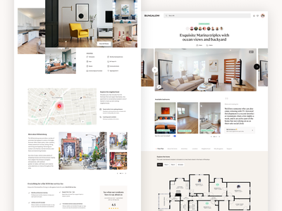 Bungalow Property Listing - Responsive Web website website design web design responsive design real estate website real estate app real estate design