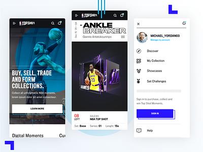 NBA Top Shots - Mobile Concept 1 sports mobile ui basketball sports app mobile app mobile design nba top shot nba