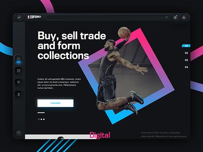 NBA Top Shots Web Concept   2 nba sports website sports website design web design dark website dark app dark ui dark neomorphism