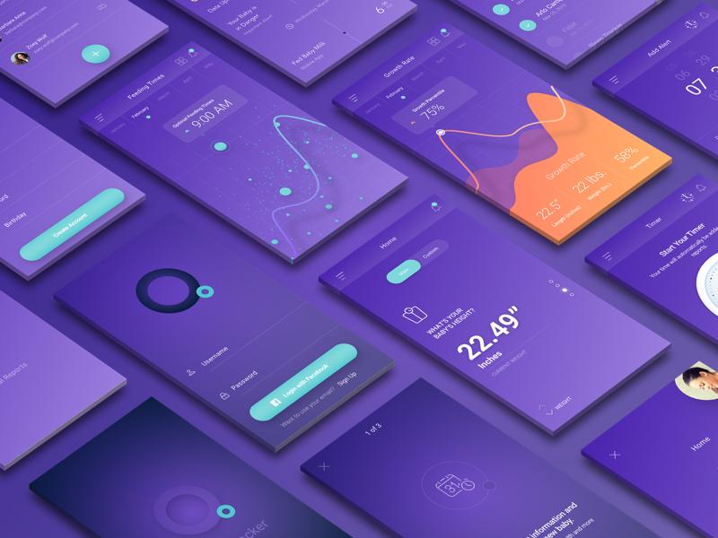 BabyTracker UI Showcase