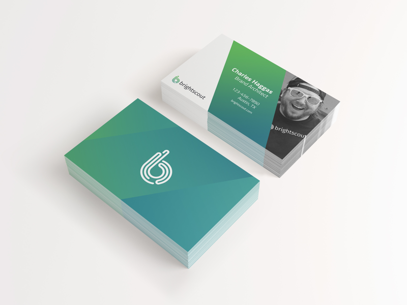 Brightscout Business Card business cards green gradient brightscout