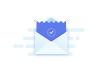 Flat Email Illustration