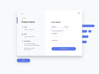 Product Demo Scheduler - Step 2