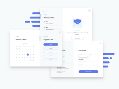 Product Demo Scheduler - All Steps