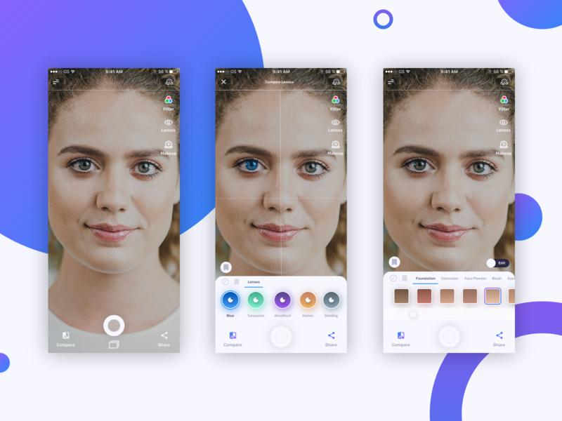 AR App Design Concept invisionstudio invision studio augmented reality eyewear contact lenses mobile app design app design