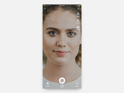 Contact Lens AR Mobile App Try On Concept