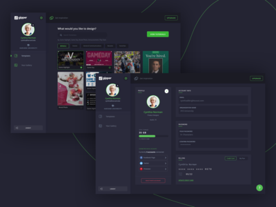 Gipper - Dashboard & Profile