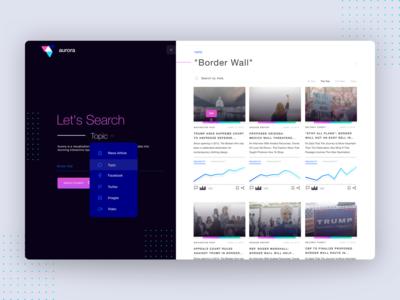 Aurora Fake News Topic UI Concept