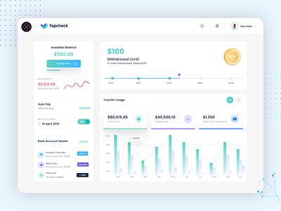 Tapcheck Dashboard payment app web app finance app payroll finance blue green app dashboard design dashboard app dashboard ui dashboard