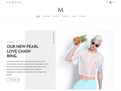 The M - The minimal blog wordpress theme