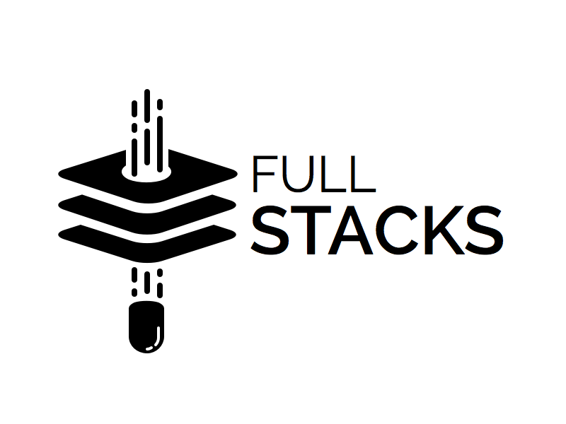 Full Stacks Logo simple black stack bullet logo