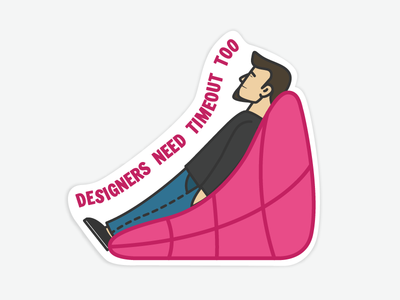 Relaxed Sticker!! sticker design icongraphy graphic design illustration icons