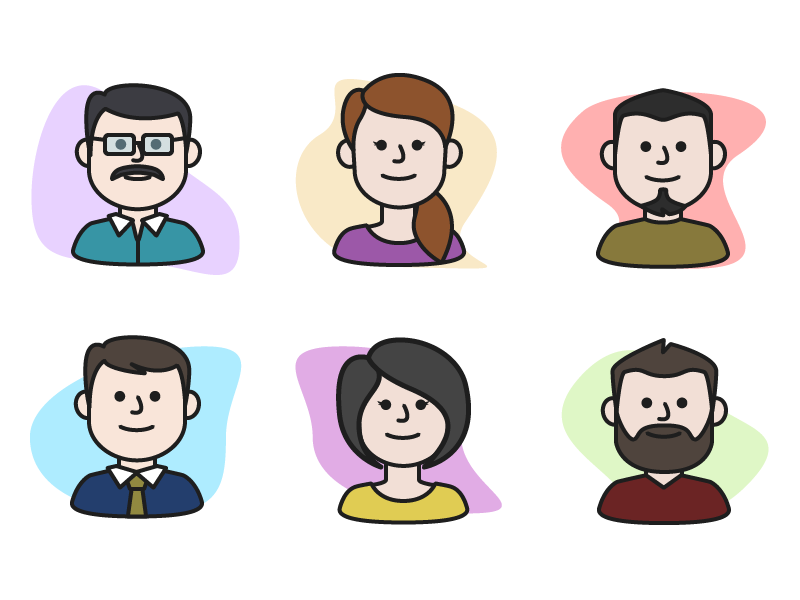 Character Icons for Thumbnails icongraphy graphic design illustration icons