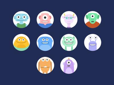Blog Comments Avatars avatars icongraphy graphic design illustration icons