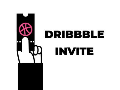 One Dribbble Invite invite icongraphy graphic design illustration icons
