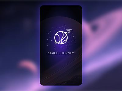 Adobe XD Playoff: Space Journey mobile app ui design illustration