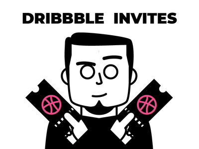 2x Dribbble Invites invite icongraphy graphic design illustration icons