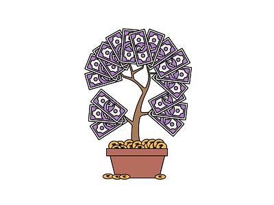 Money Tree icongraphy graphic design illustration icons