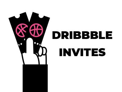 Couple of Dribbble Invites invite icongraphy graphic design illustration icons