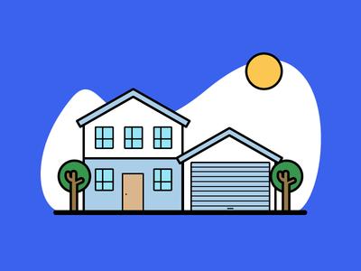 Home sticker design icongraphy graphic design illustration icons