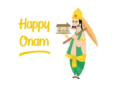 Happy Onam!! onam character design avatars design icons icongraphy graphic design illustration