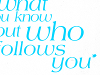Its Not Who You Know But Who Follows You
