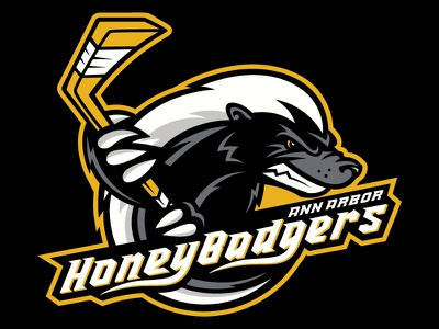 Honey Badger Hockey Logo logo sports hockey honey badger