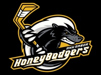Honey Badger Hockey Logo