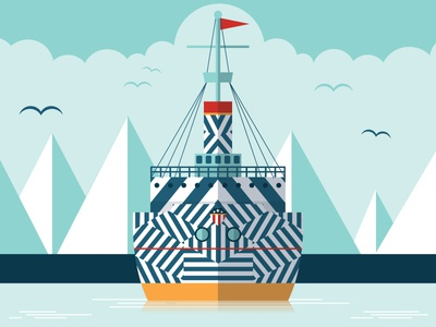 Dazzle Ship gig poster dazzle ship nautical camouflage