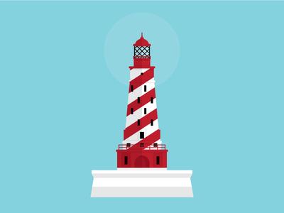 White Shoal Lighthouse lighthouse michigan illustration