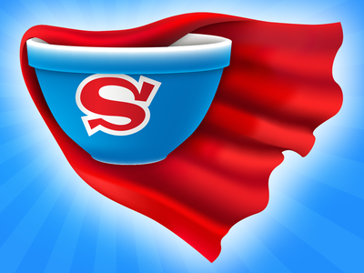 Super Bowl super bowl vector red blue super hero cape gradient mesh illustrator starburst bowl s glow