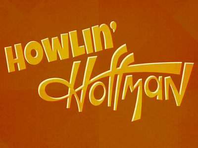 Howlin' Hoffman Logo album cover album music retro type sans serif orange rust grunge canvas