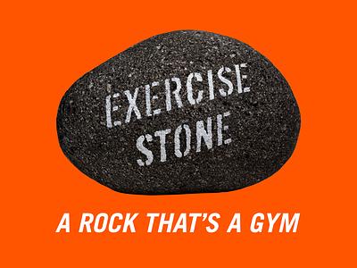 Exercise Stone! orange photography trade gothic bold oblique exercise web design