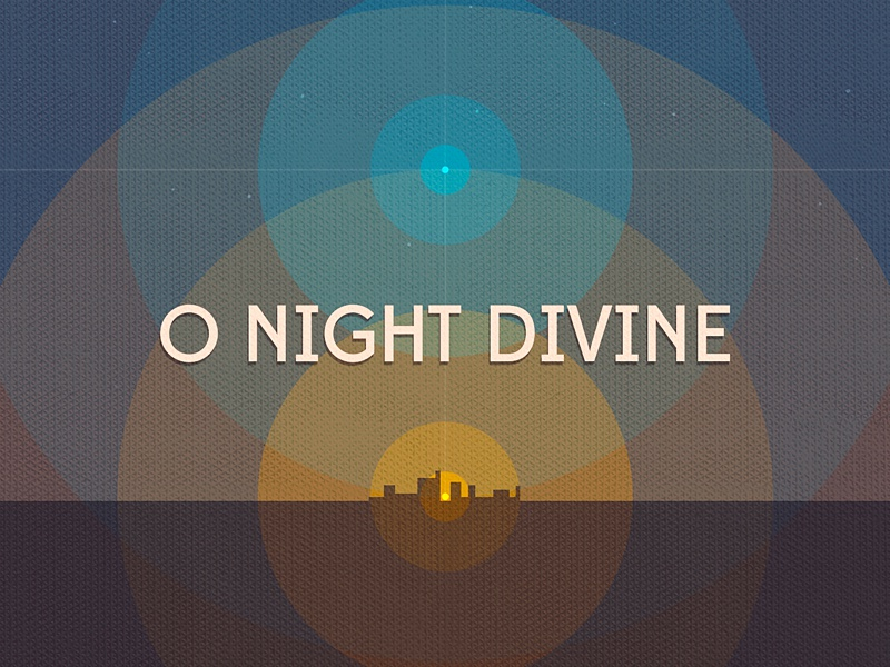 O Night Divine christmas music circles cover art christmas music