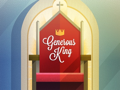 Generous King illustration generous king illustrator halftone throne crown