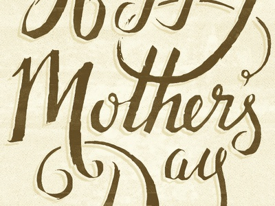 There is no other mother mothers day hand lettering