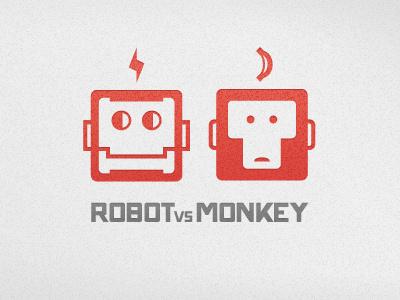 RvM Logo logo robot monkey robot vs monkey