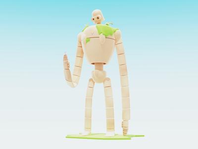 Laputan Robot studio ghibli blender b3d robot oddling miyazaki
