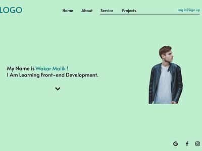 Portfolio Landing Page ux typography ui illustration design