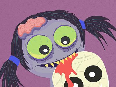 Love Is Dead macabre zombies dead illustration digital ugly cute