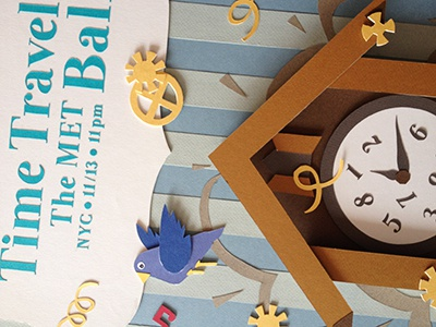 Time Travel Ball paper handmade poster cute pastel colorful