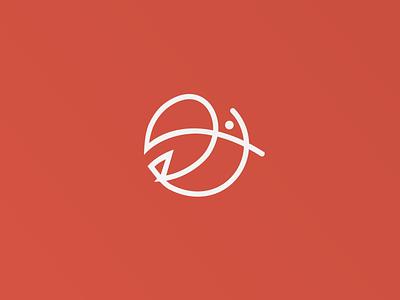 One-line Logo Design - Toucan colors bird illustration grid animals logo color animal toucan logos monogram one-line logodesign