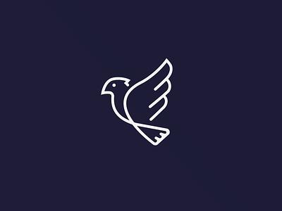 One-line Logo Design - Toucan bird logo animal design illustration grid animals circle mark logo color animal