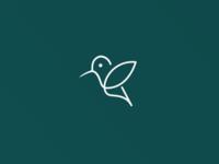 One-line Logo Design - Colibrì logo animal design illustration grid animals circle mark color animal logo