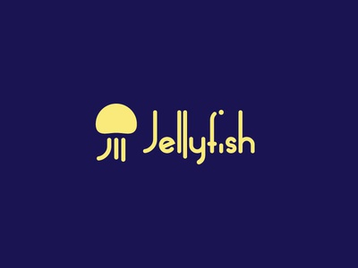 Jellyfish Logo flat colors design brand logo animal illustration grid animals circle mark color animal jello logo design logo jellyfish