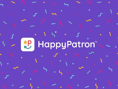 HappyPatron Logo happy marketplace ecommerce logo design