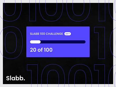 100 Day Slabb Challenge: Day 7 100daychallenge progress goal chart